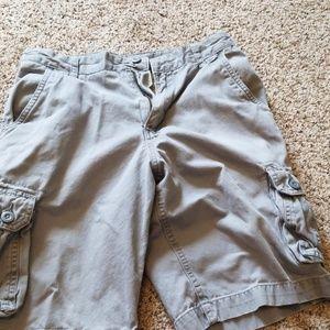 Gray Faded Glory cargo shorts